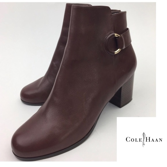Cole Haan Bailey Block Heeled Bootie in Brown